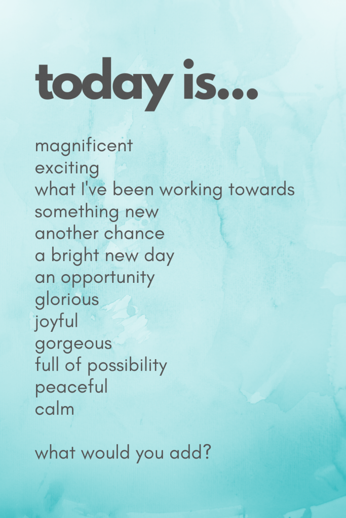 today is affirmations and mantras