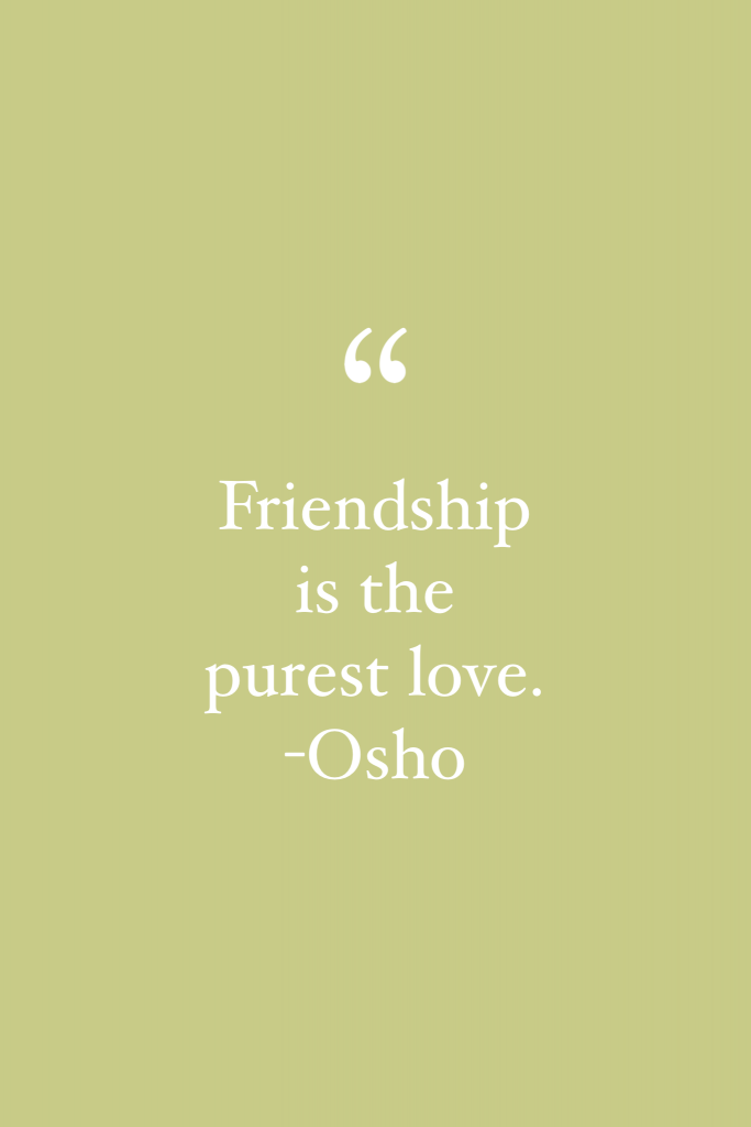 Osho friendship quote
